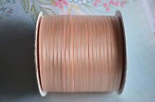 Double Sided Satin Ribbon 6mm PK 10m / Peach Blossom