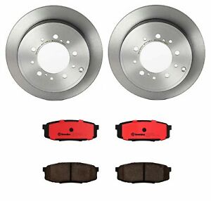 Brembo Rear Brake Kit Ceramic Pads Disc Rotors For Lexus Toyota Sequoia Tundra