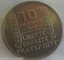 10 francs turin 1949 : SUP : pièce de monnaie française