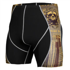 Mens Compression Shorts Running Soccer Fitness Bottoms Wicking Tight fit Spandex