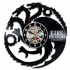 Game of Thrones Hbo_Exclusive wall clock made of vinyl record_Gift