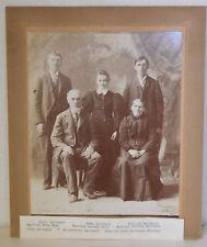 "Large 12"" Antique Cabinet Photo Immigrant Family Anna Mass Emma Dallmann"