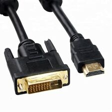 GOLD PLATED DVI 24+1 MALE TO HDMI CABLE LEAD WIRE 1M 2M 3M 5M FOR TV SKY
