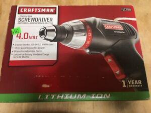 NEW CRAFTSMAN 4.0 VOLT LITHIUM ION SCREWDRIVER WITH CASE # 911398