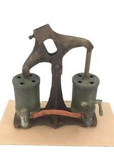 Antique Bishop And Babcock 2 Cylinder Dive Helmet Air Pump For Parts Restoration