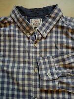 Mens George Long Sleeve Multicolour Check Shirt Size XL
