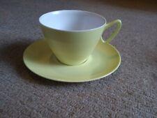 Gaydon Melmex Vintage Retro Cup Saucer Plastic Yellow Melaware