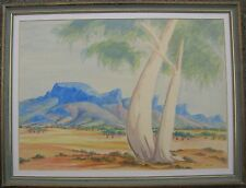 THERESE RYDER HERMANNSBURG FRAMED WC GHOST GUM MACDONNELL RANGES AUSTRALIA 1980