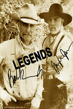"LONESOME DOVE  Robert Duval & Tommy Lee Jones Autographed Copy  8""x10"" Reprint"