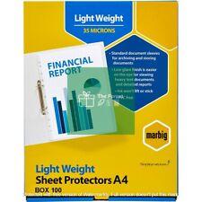 Marbig 25106 A5 Deluxe Sheet Protectors