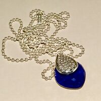 LAGOS Sterling Silver Maya Lapis Doublet Necklace NWT