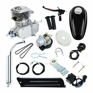 80cc 2 Stroke Gas Engine Motor Kit For Motorized Bicycle Cycle New