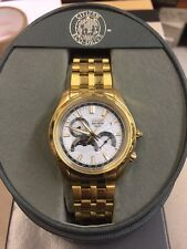 Citizen Eco-Drive 8651 Moon Phase Date Men's Watch NEW IN BOX! AP1022-51A Gold