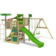 FATMOOSE Spielturm Kletterturm CrazyCoconut Club XXL mit Schaukelanbau Rutsche