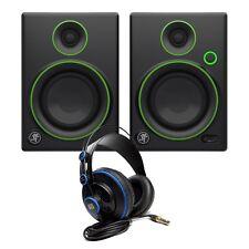 Mackie CR4 Reference Monitors & Presonus HD-7 Headphones Studio Bundle Pack