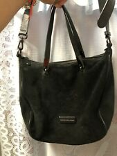 Preowned Marc by Marc Jacobs Ligero Sporty Suede Ninja Messenger Bagin Black