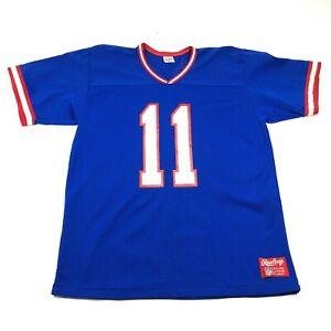Vintage 90s Buffalo Bills #11 Drew Bledsoe Football Jersey Mens M Shirt Blue Red