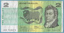 Australian 1985 $2 Two Dollars Johnston Fraser Note LHE740473