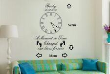 Personalised Kids Birth Date Vinyl Wall Art Clock Sticker Living Room