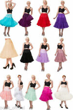 Knee Length Party Patternless Synthetic Skirts for Women