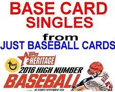 2016 TOPPS HERITAGE HIGH NUMBER BASE CARD SINGLES U PICK COMPLETE YOUR SET