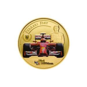 Kimi Räikkönen gold coin - Ferrari formula 1 - Limited edition 700 pcs