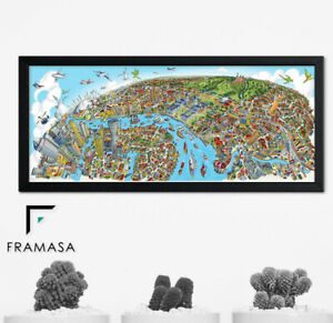 Black White Panoramic Style Photo Pictures Frames Modern Uk Handmade All Size