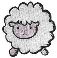 Patch écusson patche Mouton DIY custom thermocollant brodé