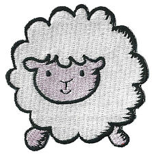 Patch écusson patche Mouton DIY custom thermocollant brodé