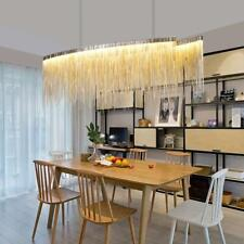 Modern Linear Aluminum Chandelier-Bling Glam Island Dining Room Bedroom