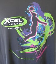 Xcel Sports 3 on 3 League Volleyball Black T-Shirt L Large