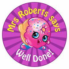80 Pegatinas De Recompensa Profesor Personalizado alumnos Donut púrpura