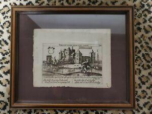 Daniel Meisner Purmerend Purmerent In Holland 1900s Copper Print RARE Framed