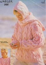"Ladies Chunky Cable Sweater Balaclava & Scarf 32"" - 48"" Knitting Pattern"