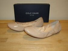 NEW Womens Cole Haan 10.5 Maple Sugar Patent Leather Avery Ballet Shoes Beige