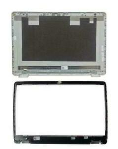 New For Dell Inspiron 15 5584 LCD Rear Top Lid Back Cover & Front bezel Silver
