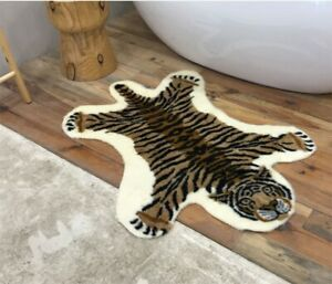Zebra Printed Faux Area Rugs Animal Mat Carpet Anti-skid Leather for Home Decor