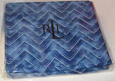 RALPH LAUREN Indigo Modern Herringbone QUEEN FLAT SHEET NEW COTTON INDIGO BLUE
