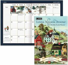 LINDA NELSON STOCKS - 2021 POCKET PLANNER CALENDAR - BRAND NEW - LANG ART 03179