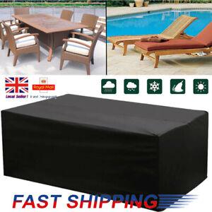 Large Heavy Duty Waterproof Rattan Cube Cover Outdoor Garden Furniture 3 Size UK