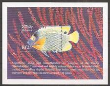 Malediven Maledives Bl. Fische Diadem-Kaiserfisch 1999 ** Bl. 433