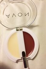 Avon Moisturizer Color Tint Gloss Lipstick  Lip Duo GINGER Red Compact Brush NIB