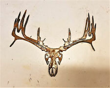 "6"" Buck Skull Deer Animal Rusty Rustic Vintage Metal Wall Art Craft Sign"