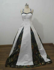 2020 Ball Gown Wedding Dresses Bridal Gowns Halter Appliques Camouflage Custom