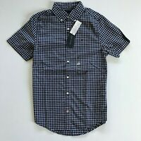 NWT Tommy Hilfiger Men's Slim Fit Short Sleeve Essential Check Shirt 100% Cotton