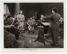 DEANNA DURBIN in THREE SMART GIRLS GROW UP 1939  VINTAGE ORIG PHOTO orchestra