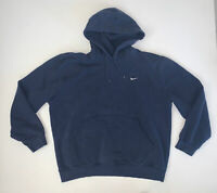 Vintage Nike Hoodie Sweatshirt Size XL Blue Mini Swoosh Travis Scott