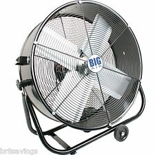 "New Large Portable Floor Fan 24"" Rolling Tilt Commercial Warehouse Gym"
