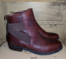LAUREN RALPH LAUREN KALIYAH CHELSEA BOOTS ANKLE BROWN LEATHER $155 RIDING 7.5 M