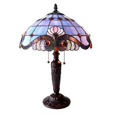 Chloe Tiffany Style Victorian Design 2 light Antique Bronze Table Lamp